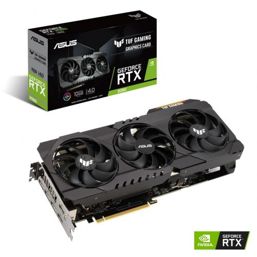 Видеокарта PCI-E 10240Mb ASUS RTX 3080 TUF Gaming OC, GeForce RTX3080